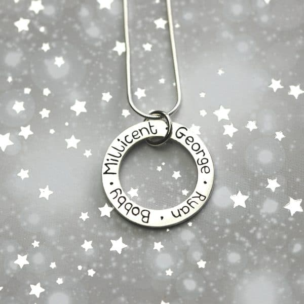 Sterling silver personalised name charm