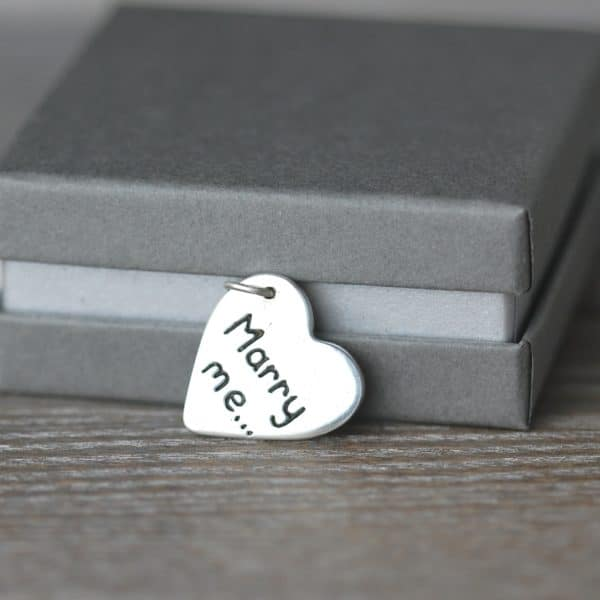 Sterling silver personalised message charm