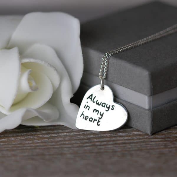Sterling silver message charm
