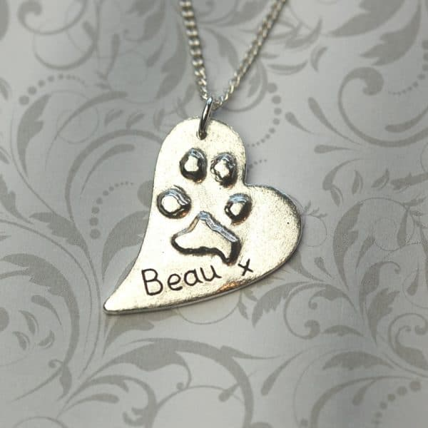 Large raised paw print charm. Ideal gifts for pet lovers