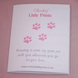 Paw print kit presentation folder