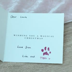 Personalised stamp with your pet's unique paw print and name