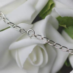 Sterling silver large link curb chain
