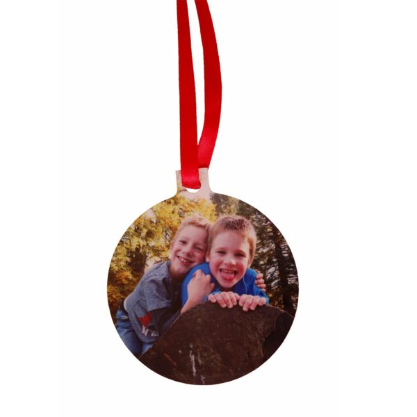 Christmas decoration personalised with your chosen photo