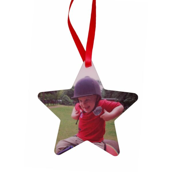 Personalised Christmas decoration with your photo
