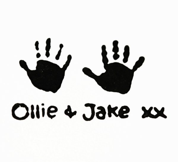 Double handprint stamp