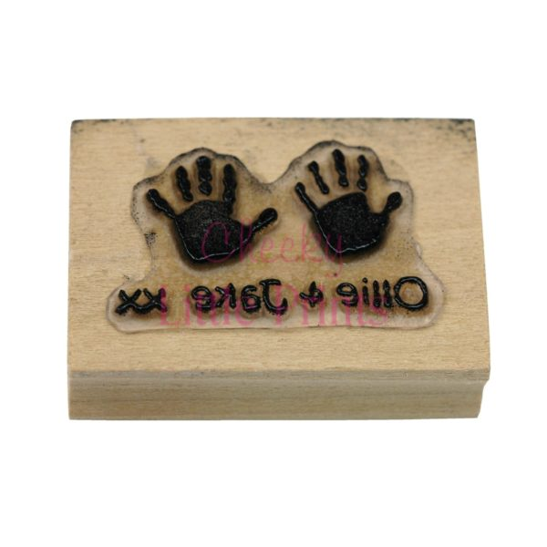 Personalised double handprint stamp