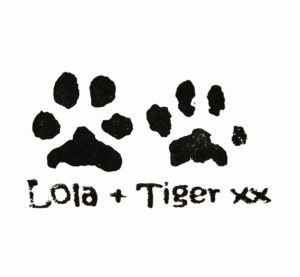 Personalised stamp with your own pet's paw prints
