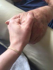 Hoding hands, a precious moment