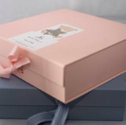 Keepsake box for a baby girl