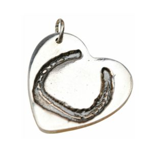 Silver horse shoe charm
