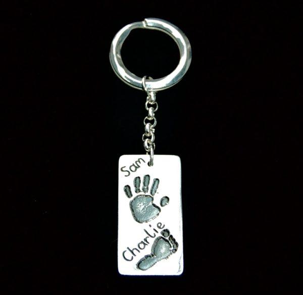 Large hand/footprint keyring
