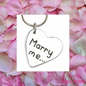 """Marry me"" silver charm"
