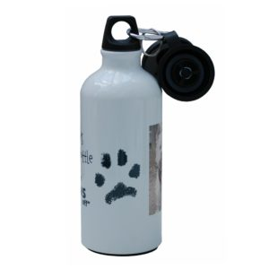 Personalised water bottle with hand/foot/paw print and photo