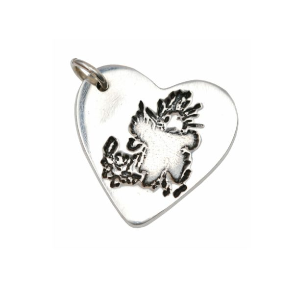 Sterling silver charm with your child's drawing