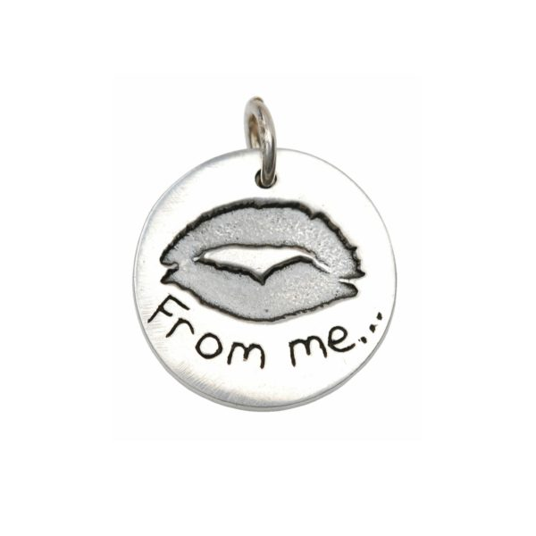 Sterling silver kiss charm