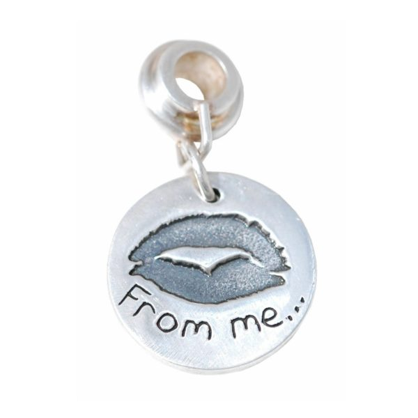 Regular charm capturing your loved one's special kiss imprint