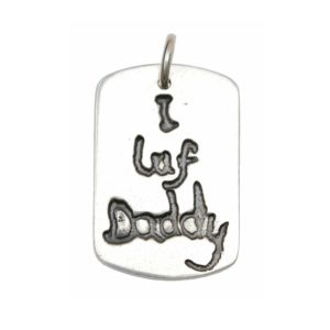 Sterling silver signature charm with your own handwriting