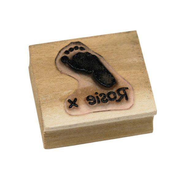 Personalised footprint stamp