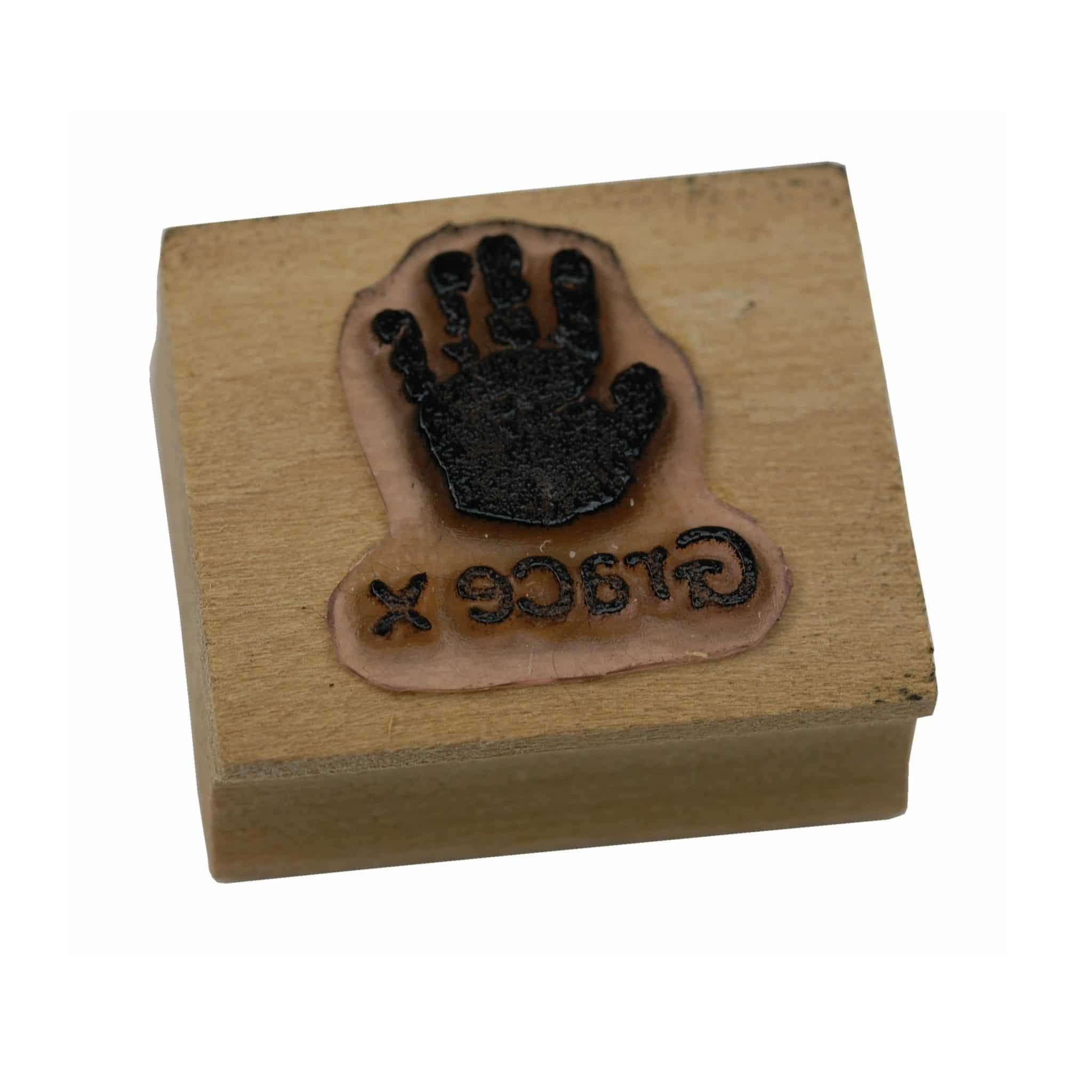 Personalised handprint stamp