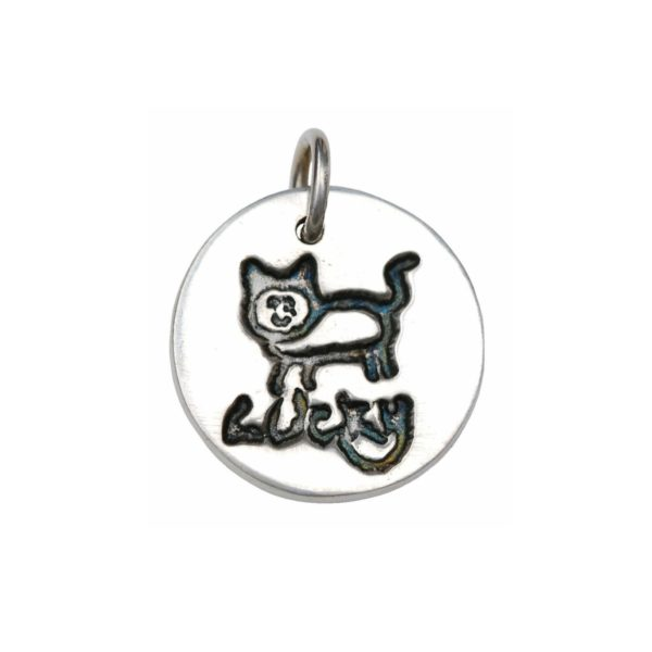 Silver charm with your child's drawing