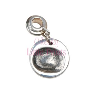 Small circle fingerprint charm with charm carrier