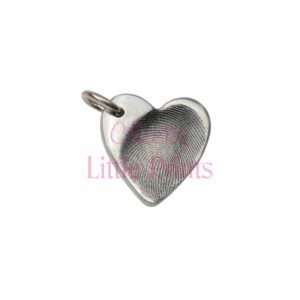 Small silver heart with fingerprint