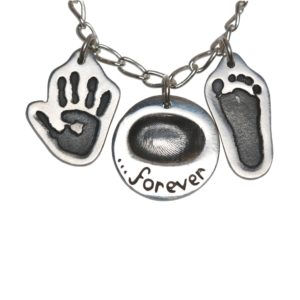 Small cut out hand and footprint charms
