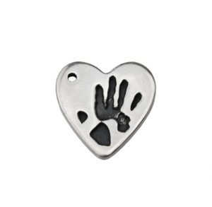 Small heart charm with Gpa's handprint