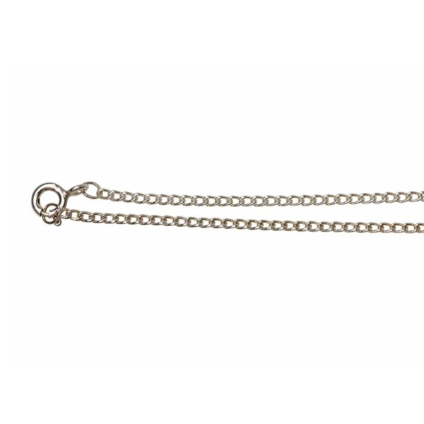 Sterling silver small link curb chain