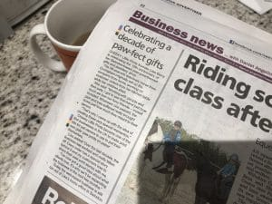 Swindon Adver 10 years in business story