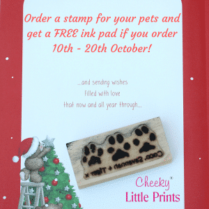 FREE ink pad 10th - 20th October triple paw print stamp