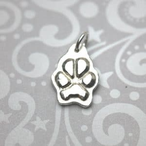 Small paw print charm