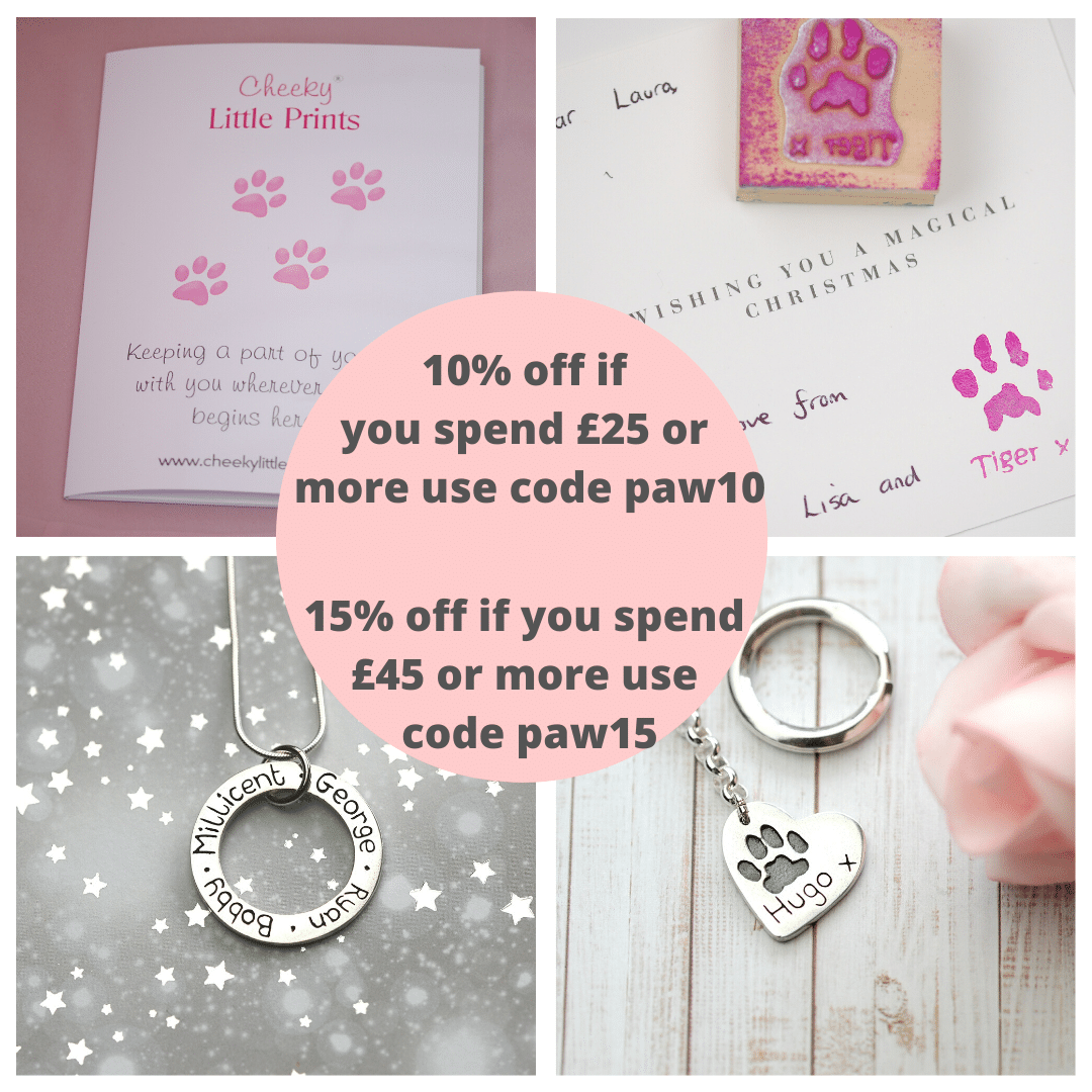 paw print kits and jewellery offer