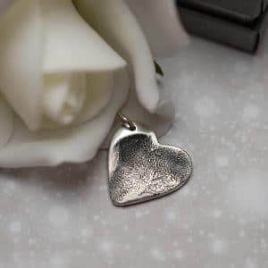 Regular silver paw pad print charm