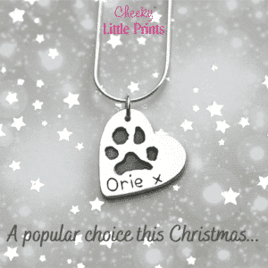 Paw print necklace last minute Christmas order information
