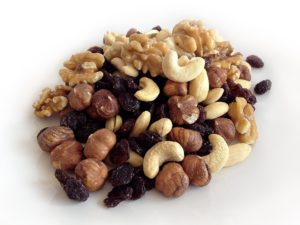Christmas nuts and raisins