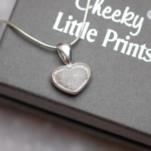 Small heart pendant with pet fur or cremation ashes