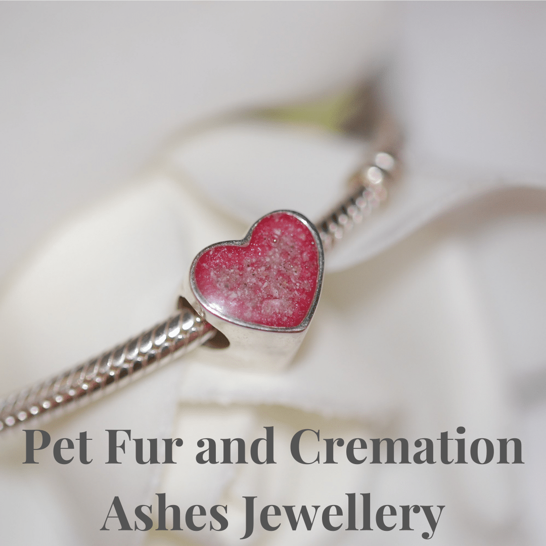 Pet fur and cremation ashes jewellery