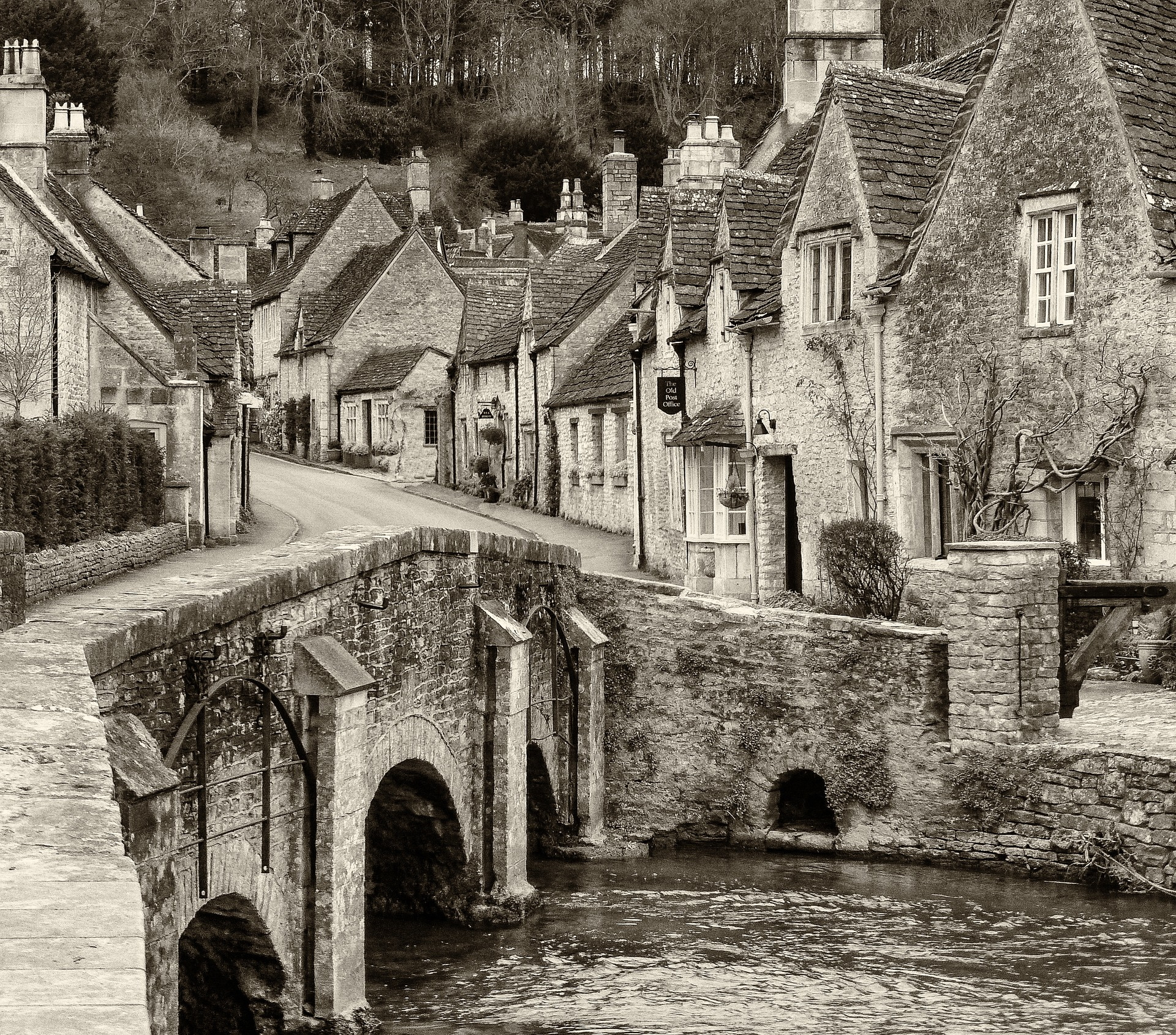Beautiful picturesque village of Castle Combe in Wiltshire