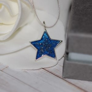 Sterling silver star pet cremation ashes Christmas decoration